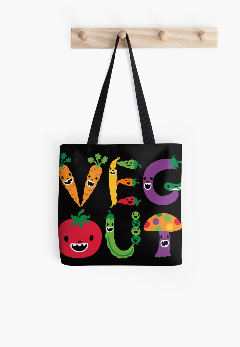 Veg Out - black by Andi Bird