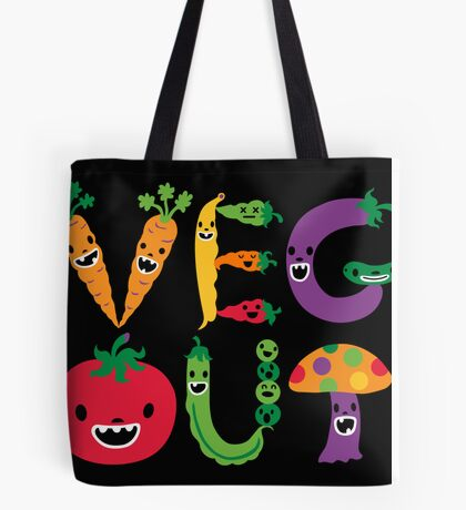 Veg Out - black Tote Bag