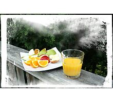 Fresh Fruit and Orange Juice. Photographic Print