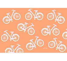 Bicycles - white and pink Photographic Print