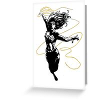 Wondergirl with Flying Lasso Greeting Card