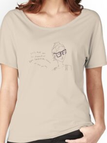Plum Specs- yeah that was me dressed as super GALACTICAL woman at the party... Women's Relaxed Fit T-Shirt