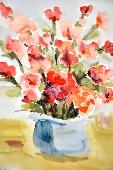 Red Poppies for Belinda by Stella  Shube As