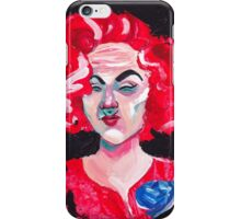 THE LADY WITH THE BLUE ROSE iPhone Case/Skin