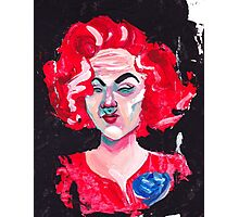 THE LADY WITH THE BLUE ROSE Photographic Print