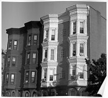 Historic little Buildings-B&W Poster