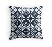 Navy 1950s Inspired Diamonds Throw Pillow