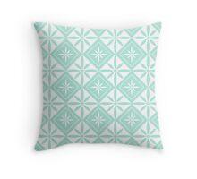 Mint 1950s Inspired Diamonds Throw Pillow