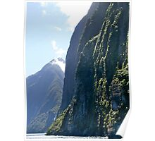 Fiord Cliffs, Milford Sound, South Island, NZ. Poster