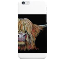 HIGHLAND COW 'CHARMER' BY SHIRLEY MACARTHUR iPhone Case/Skin