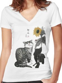 a touch of zen no.1 Women's Fitted V-Neck T-Shirt