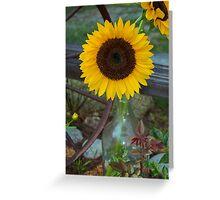 Summer Sun Flower Greeting Card