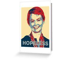 Labour Leadership Hopeless Yvette Greeting Card