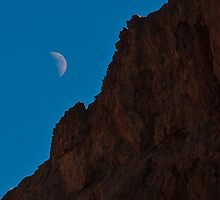 Moon Rise in the Valley of Fire by Henry Plumley
