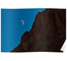 Moon Rise in the Valley of Fire Poster