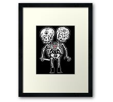 Calavera Twins Framed Print