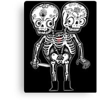 Calavera Twins Canvas Print