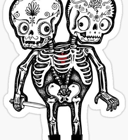 Calavera Twins Sticker