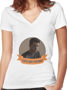 *Cute but Psycho* [Theo Raeken] Women's Fitted V-Neck T-Shirt