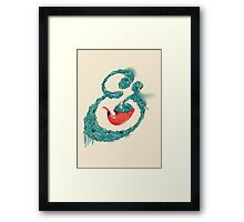Smoke Ampersand Framed Print
