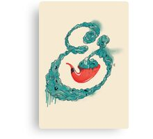 Smoke Ampersand Canvas Print