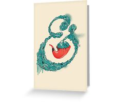 Smoke Ampersand Greeting Card