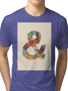 Psychedelic Ampersand Tri-blend T-Shirt