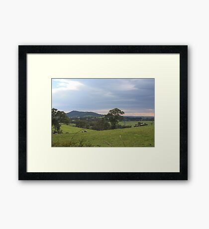 Mt Barker from Wistow Framed Print