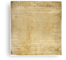 Original United States Constitution Bill of Rights December 15, 1791 Canvas Print