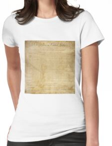 Original United States Constitution Bill of Rights December 15, 1791 Womens Fitted T-Shirt