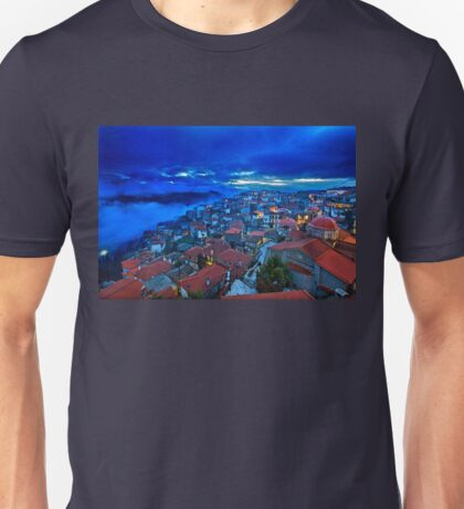 Night falling in Arachova Unisex T-Shirt