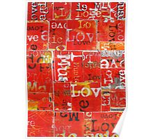 Love and Music in Red Poster