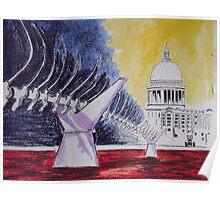 millenium bridge London Poster