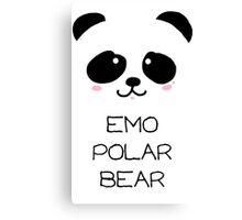 Emo Polar Bear Canvas Print