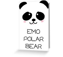 Emo Polar Bear Greeting Card