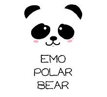 Emo Polar Bear Photographic Print