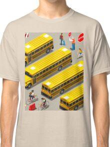 School Bus Vehicle Isometric Classic T-Shirt