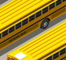 School Bus Vehicle Isometric Sticker