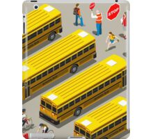 School Bus Vehicle Isometric iPad Case/Skin