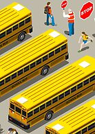 School Bus Vehicle Isometric by aurielaki