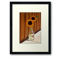Sun Flowers ~ Digital Oil Painting  Framed Print
