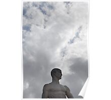 Marble and clouds, Rome Poster