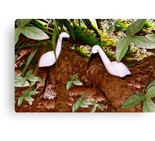 Egret abstract Canvas Print