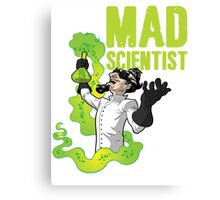 Mad Scientist T Shirt Canvas Print