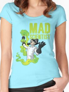 Mad Scientist T Shirt Women's Fitted Scoop T-Shirt