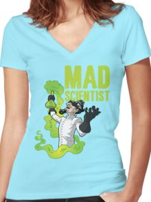 Mad Scientist T Shirt Women's Fitted V-Neck T-Shirt