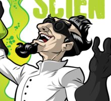 Mad Scientist T Shirt Sticker