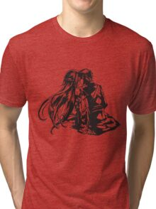 SAO - Asuna & Kirito Transparent Tri-blend T-Shirt