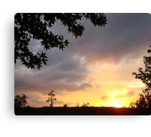 Watercolor Sunset Canvas Print