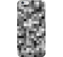 Monochrome Pixels iPhone Case/Skin